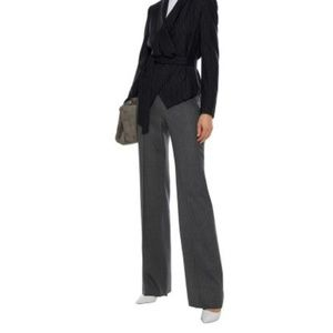 MAX MARA Pinstriped wool-blend twill bootcut pants